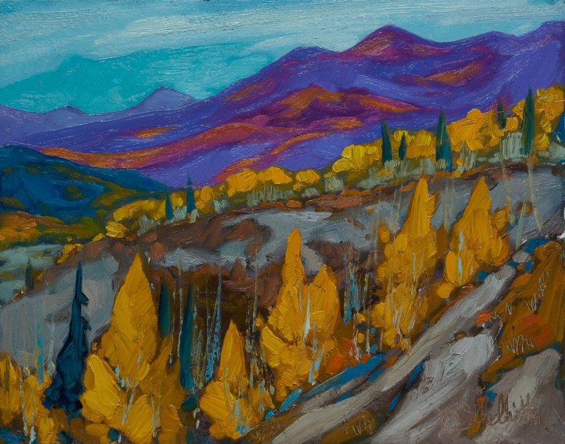 "Matanuska fall 11"" x 14"" oil on board"