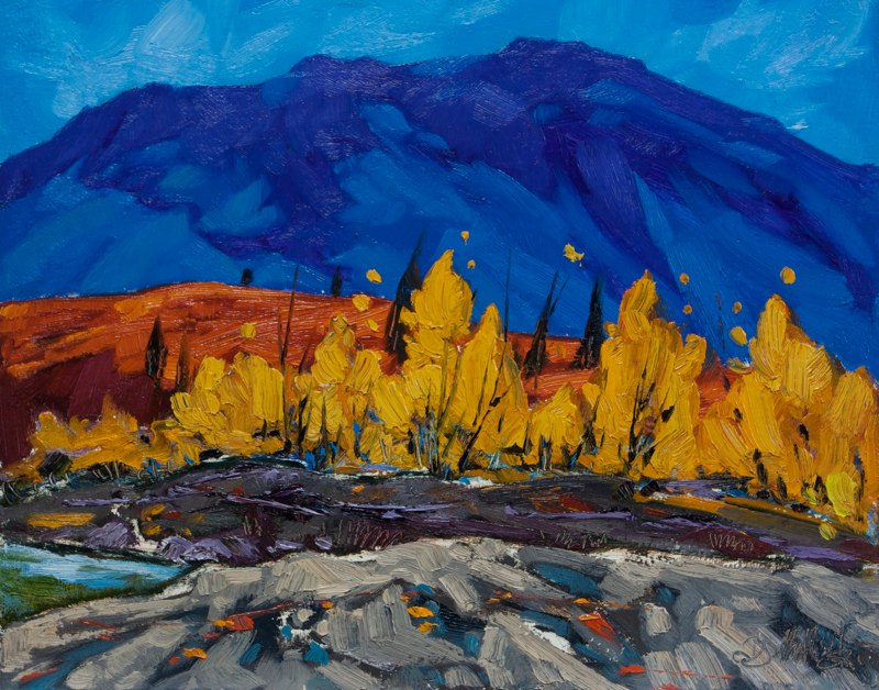 "Denali Creek 11"" x 14"" oil on board SOLD"