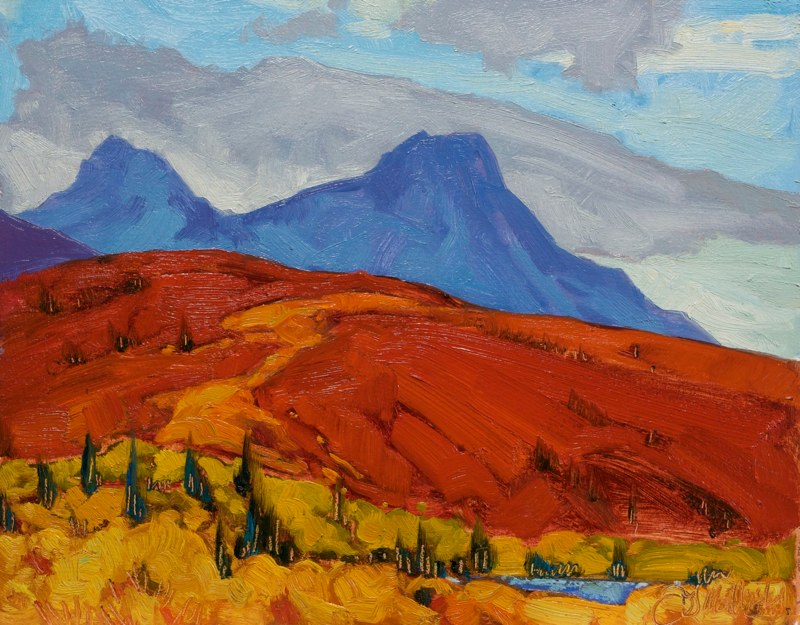 "On the way to Denali 11"" x 14"" oil on board"