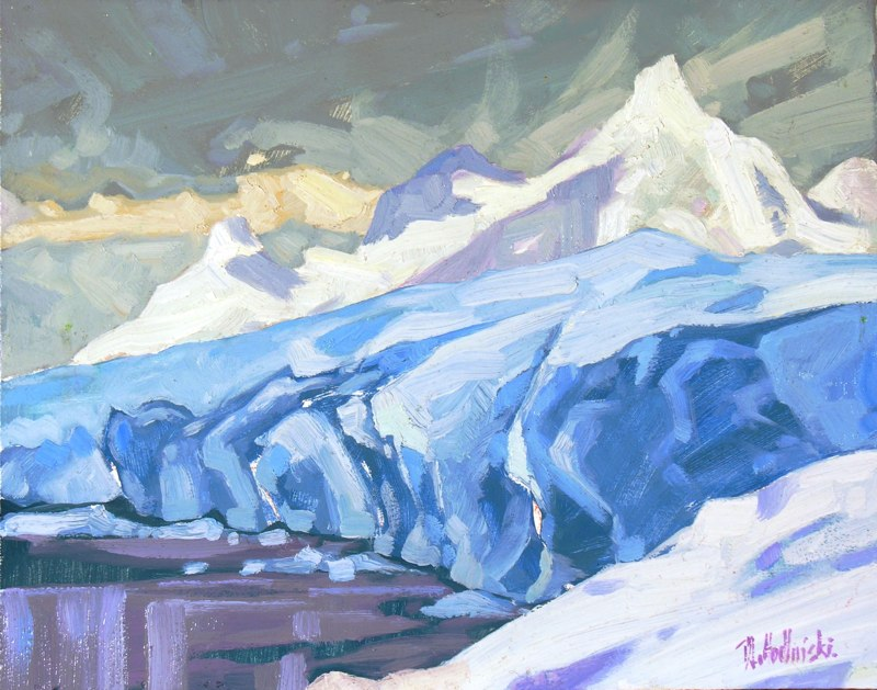 "Glacier 11"" x 14"" oil on board SOLD"