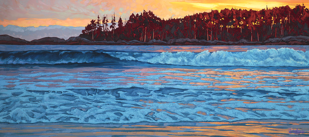 "Western Surf 32' x 72"" oil on canvas"
