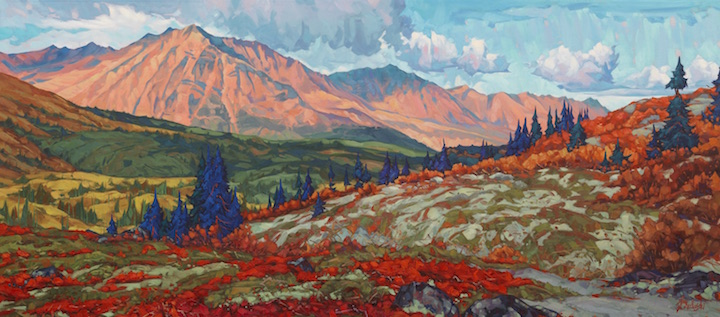 """ Tundra Walk "" 32"" x 72"" oil on canvas"