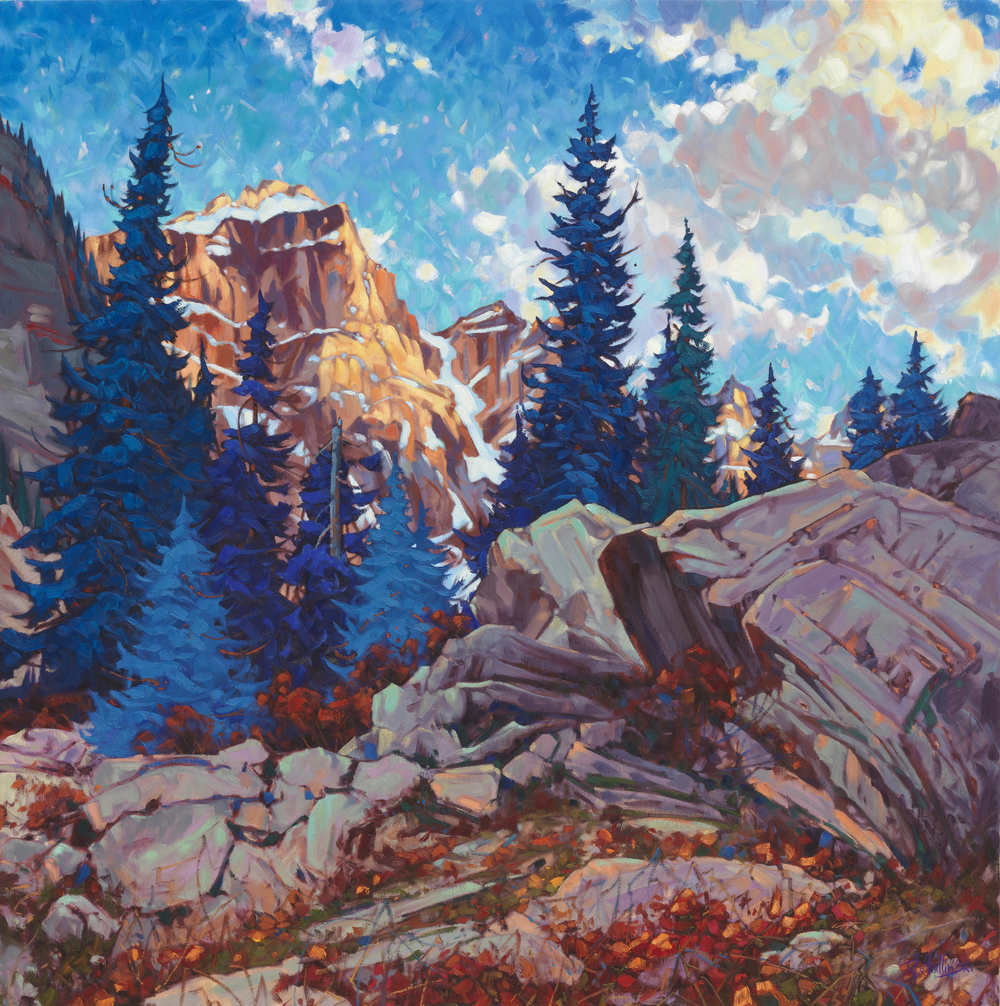 "Glory of Lake Moraine 48"" x 48"" oil on canvas"
