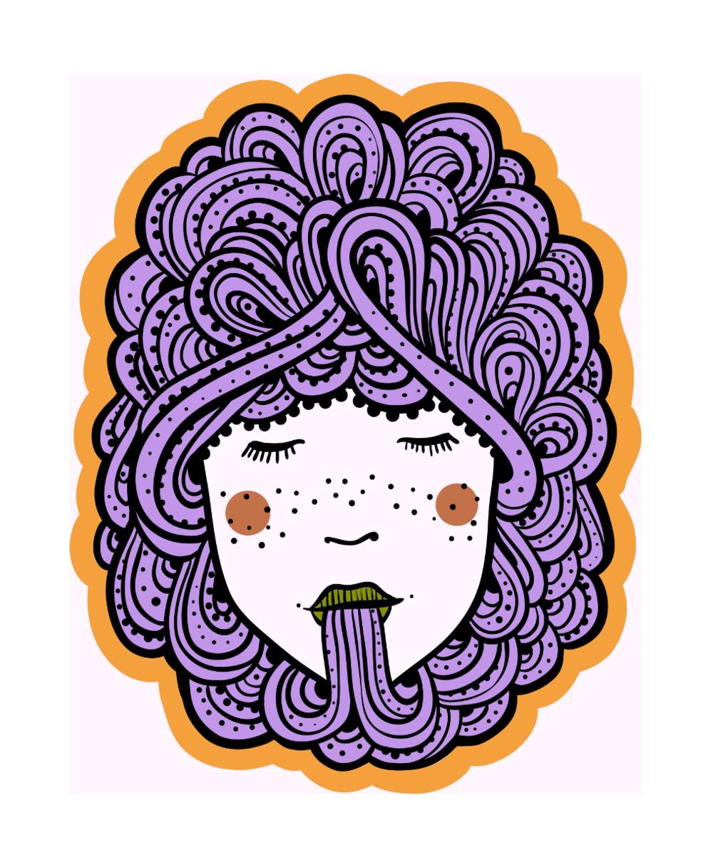 Hair: Violet