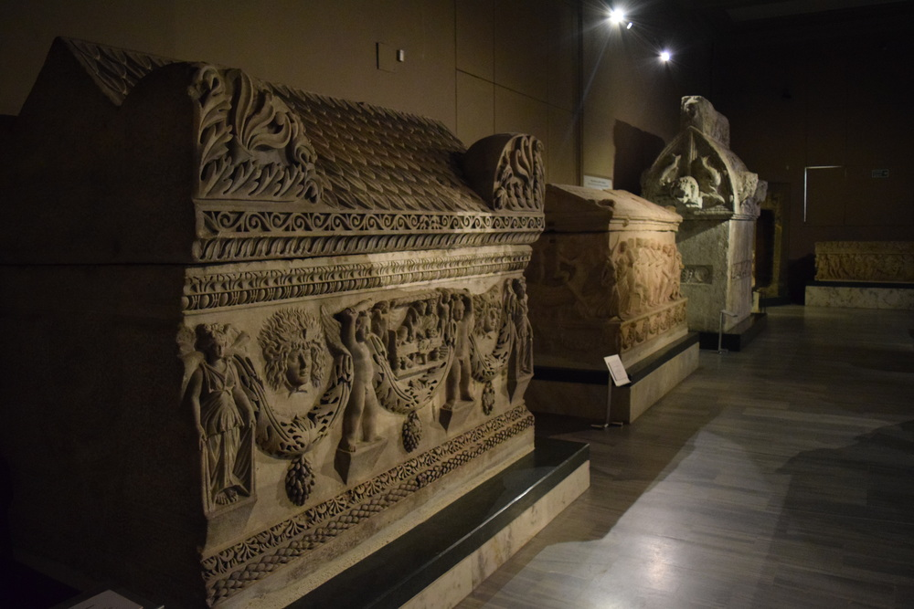 Sarcophagi at the Archaeological Museum