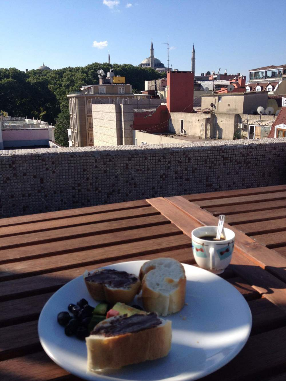 One last breakfast in the shadow of Hagia Sophia
