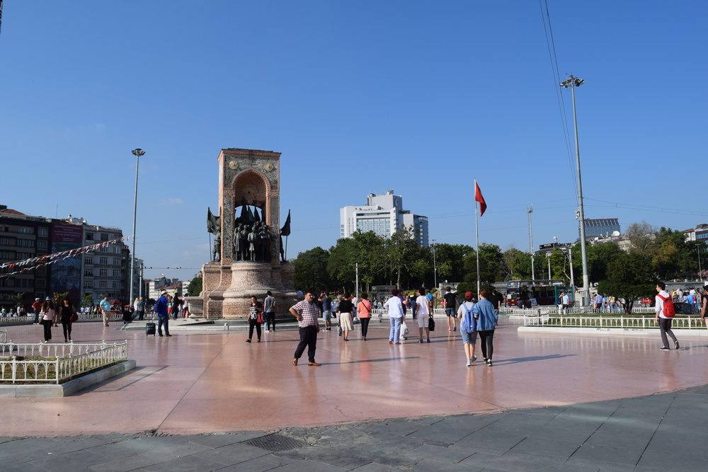 Taksim Square and the Statue of the Republic