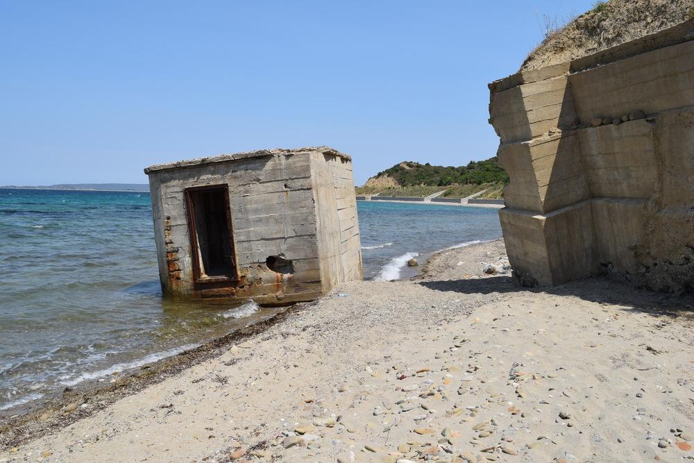 A beach bunker