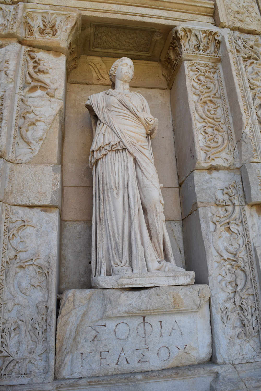 Statue of Sophia (Wisdom) at Library of Celsus