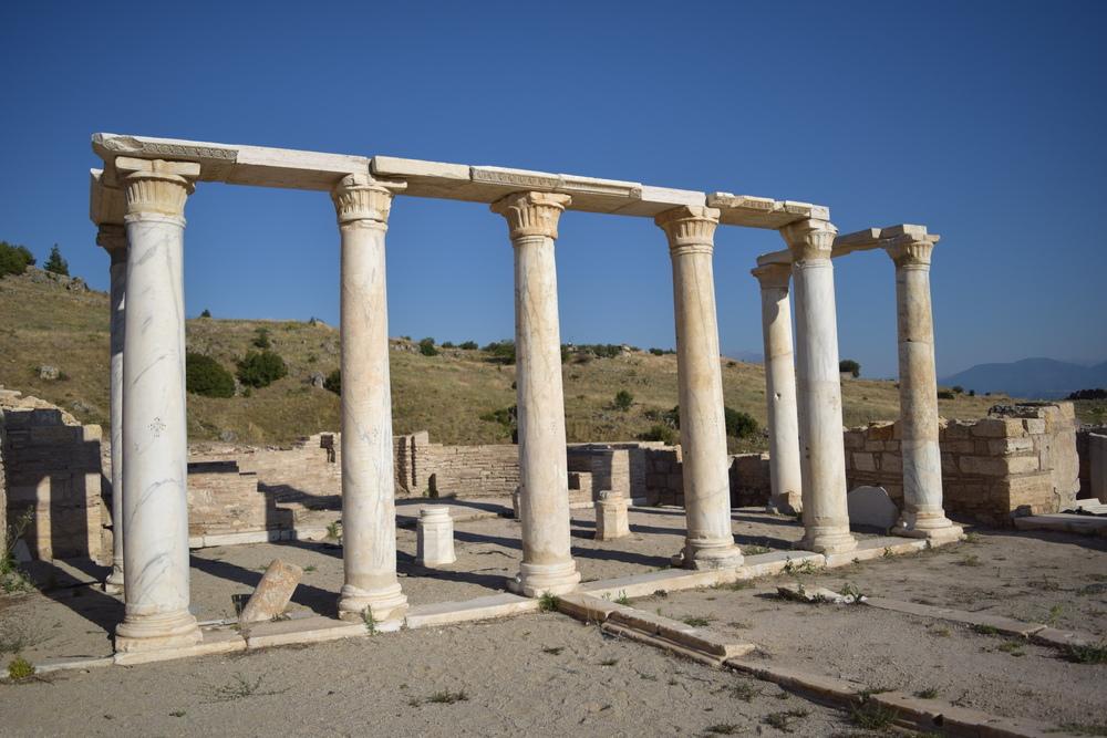 Columns near Philip's tomb