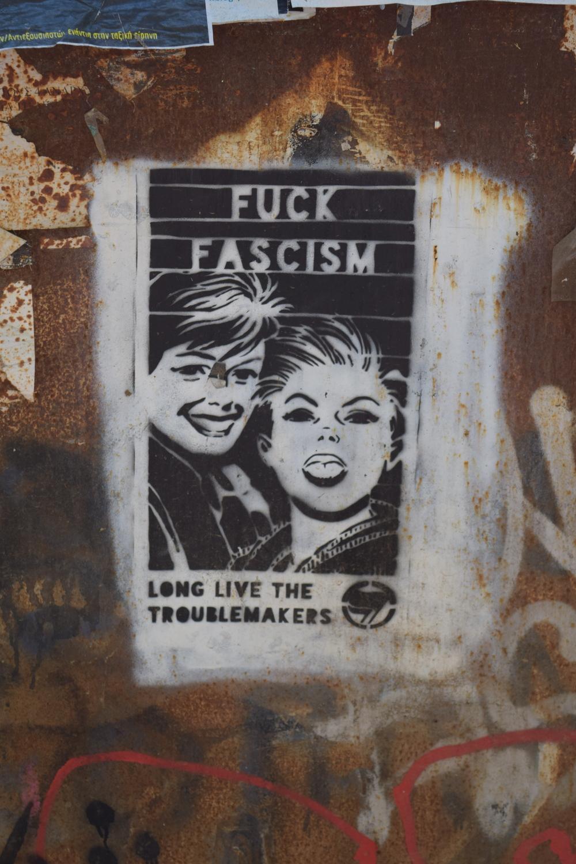 Anti-fascist stencil