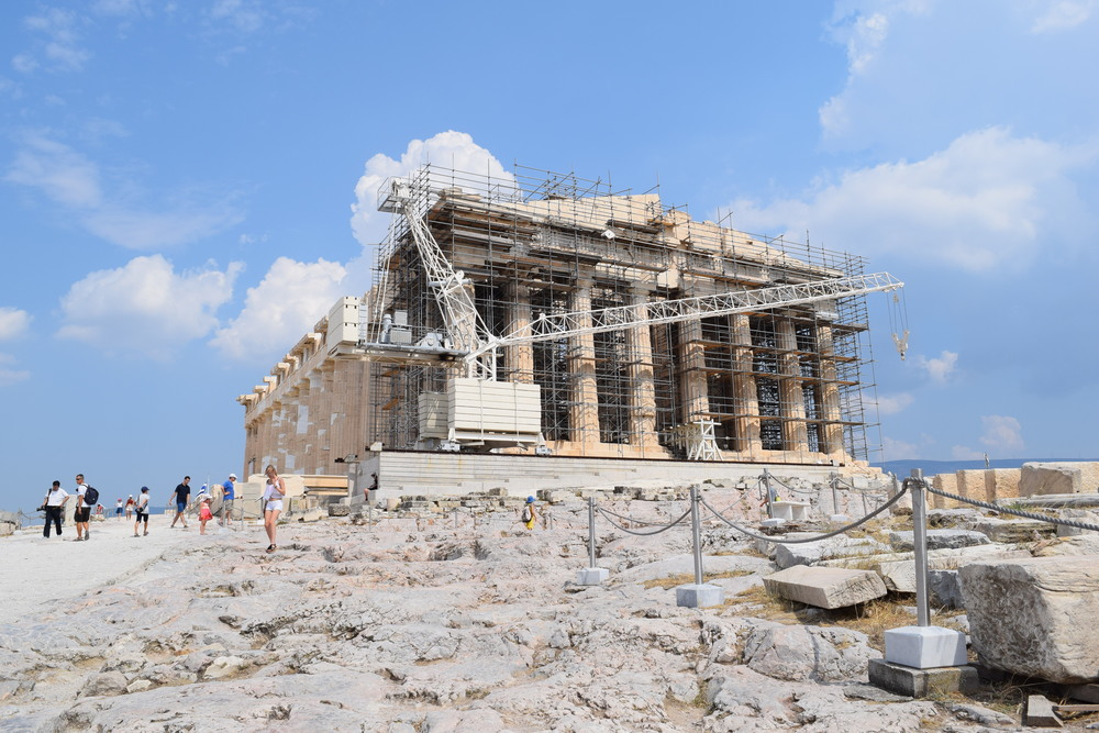 Restoration work on the Parthenon