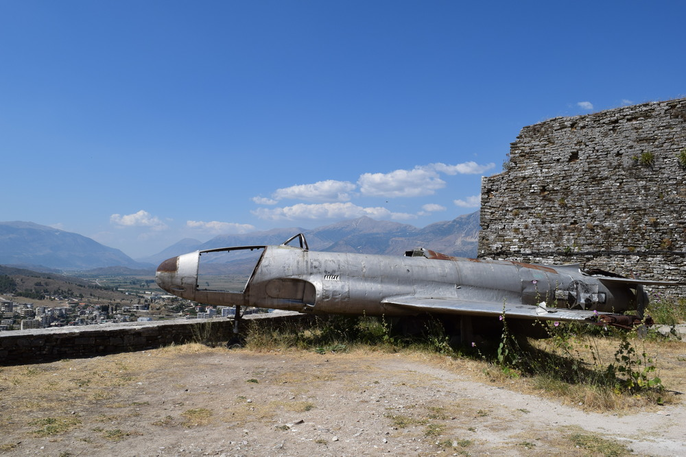 The alleged spy plane of Gjirokastër Castle