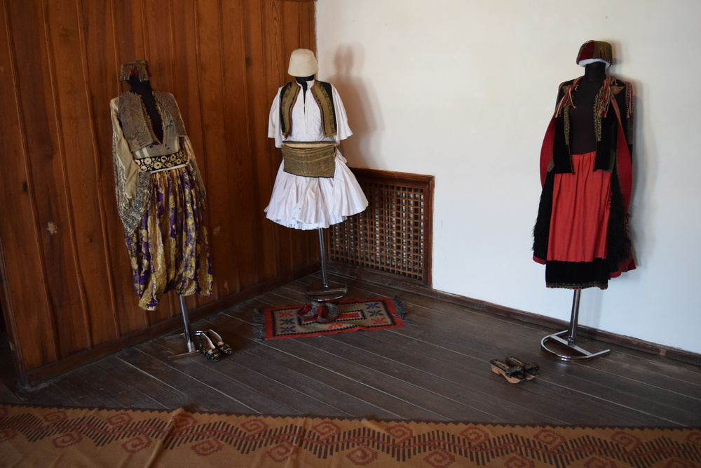 Traditional dress on display in the Museum of Ethnography