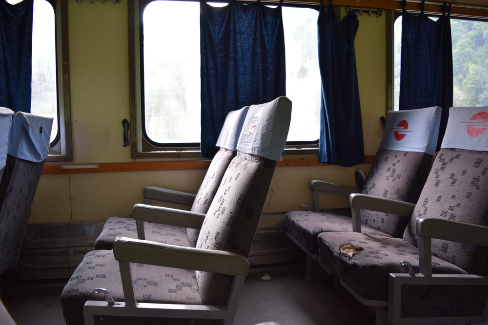 Inside the Kosovar train car