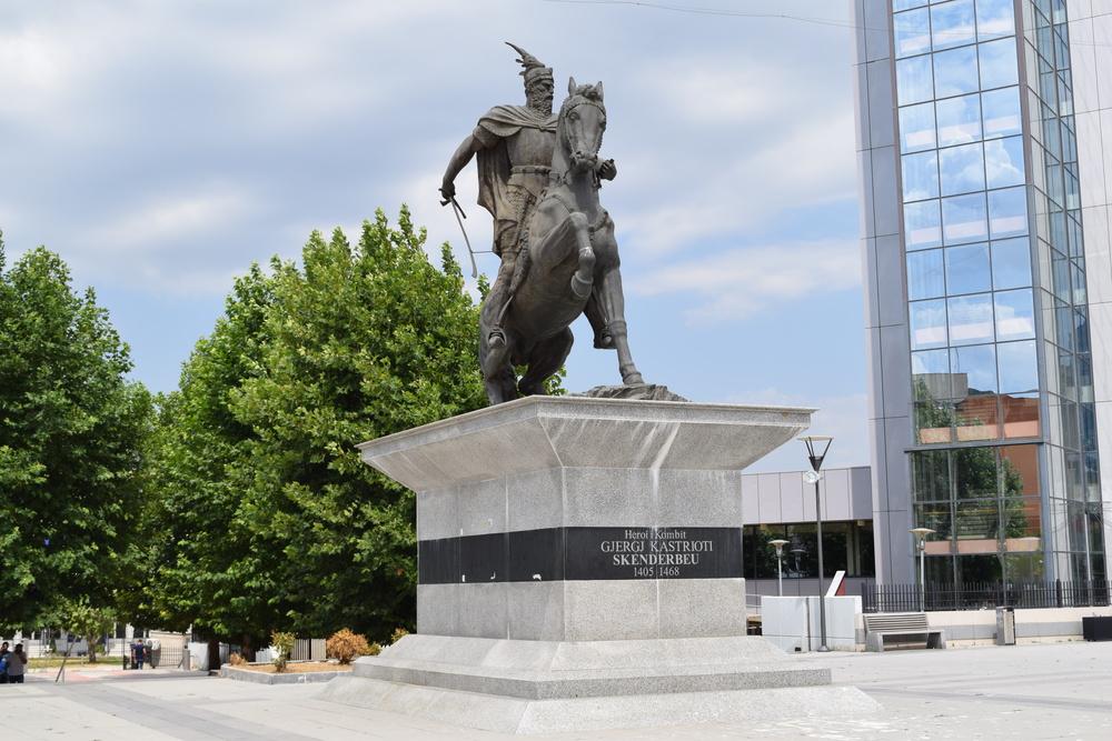Pristina's Skanderbeg statue