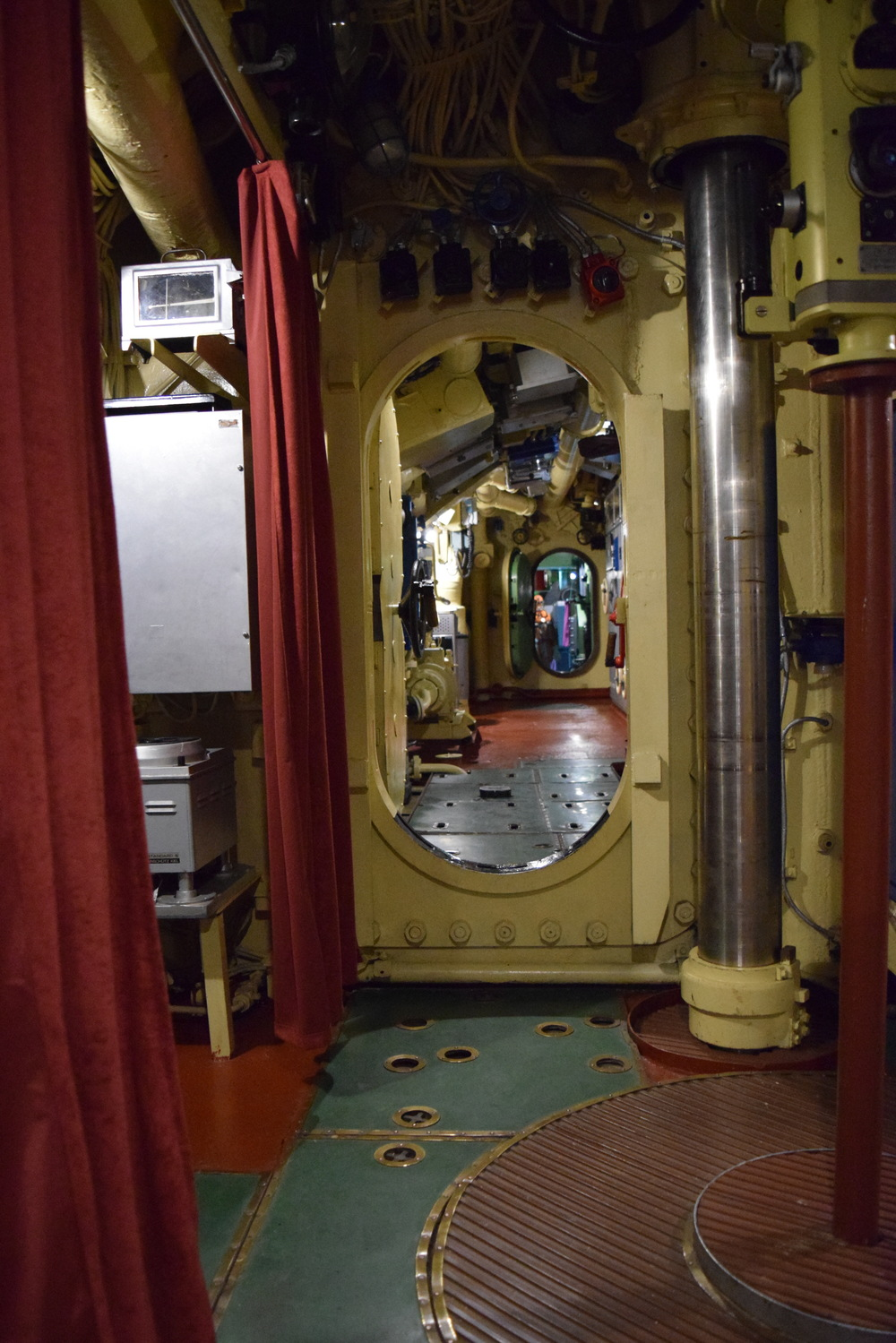 Interior of the Yugoslav submarine.  It makes the  USS Peleliu  seem spacious.