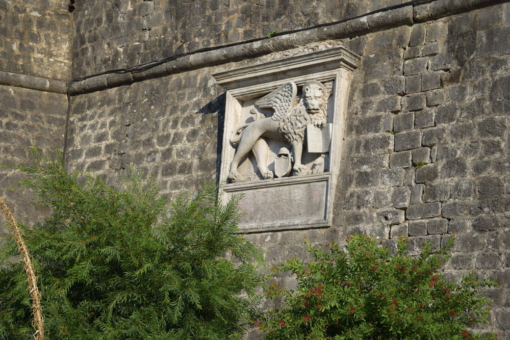 A Venetian lion on the city walls