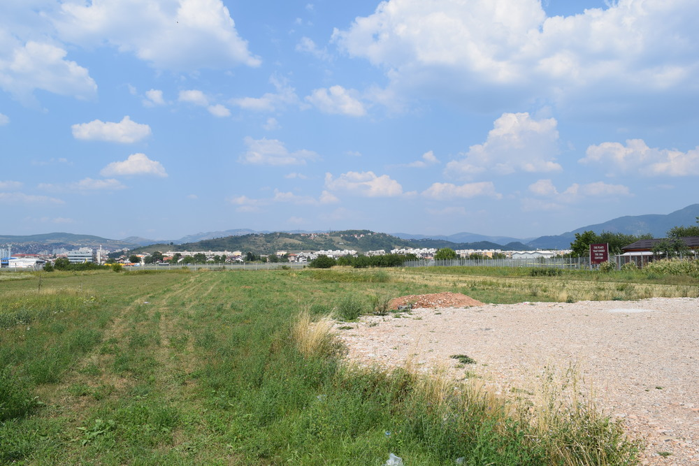 A view across the Sarajevo Airport runway