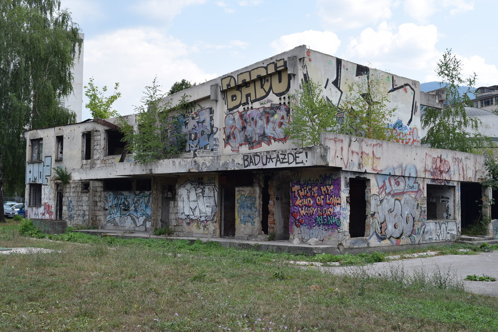 Empty building in Sarajevo