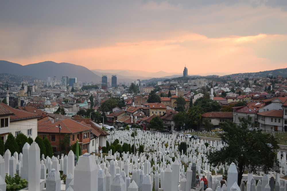 The Martyrs' Memorial Cemetery Kovači is the main burial site for Bosniak soldiers killed during the siege.