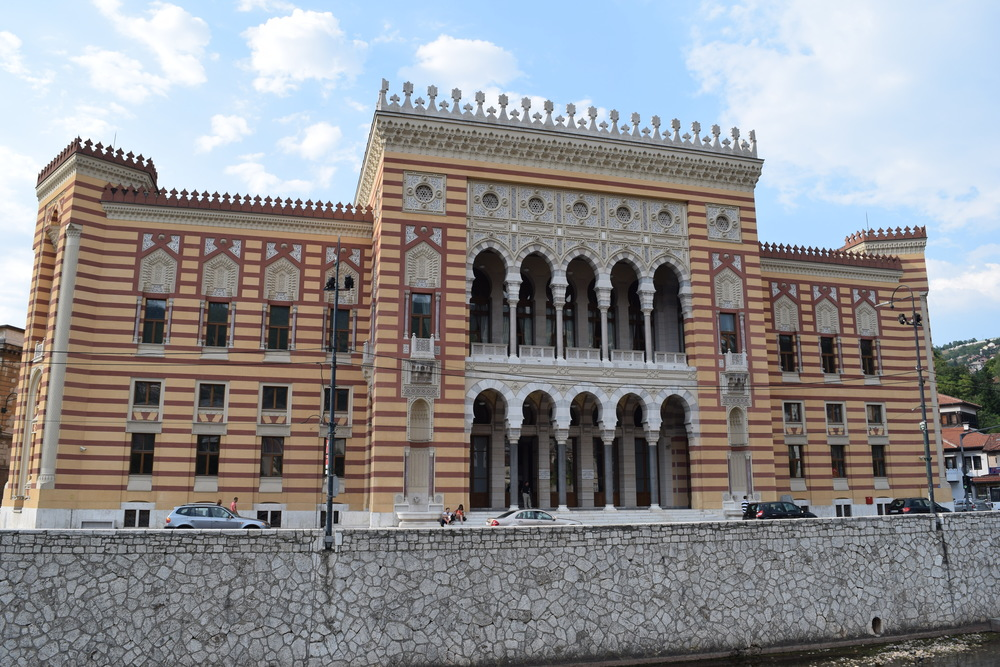 Front of the Sarajevo City Hall