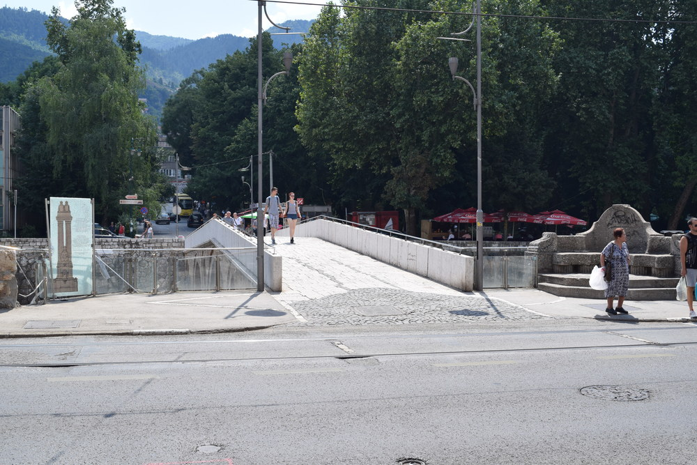 The Latin Bridge (Gavrilo Princip Bridge): Franz Ferdinand was assassinated here, providing the catalyst for World War I