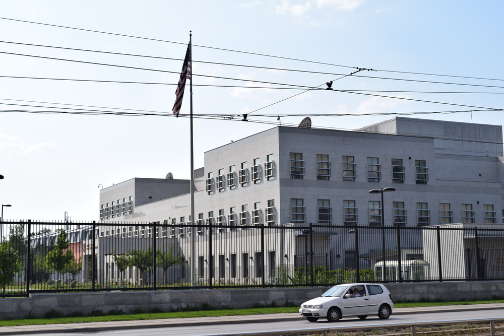 The US Embassy in Sarajevo resembles a penitentiary more than a place for the conduct of diplomatic business.