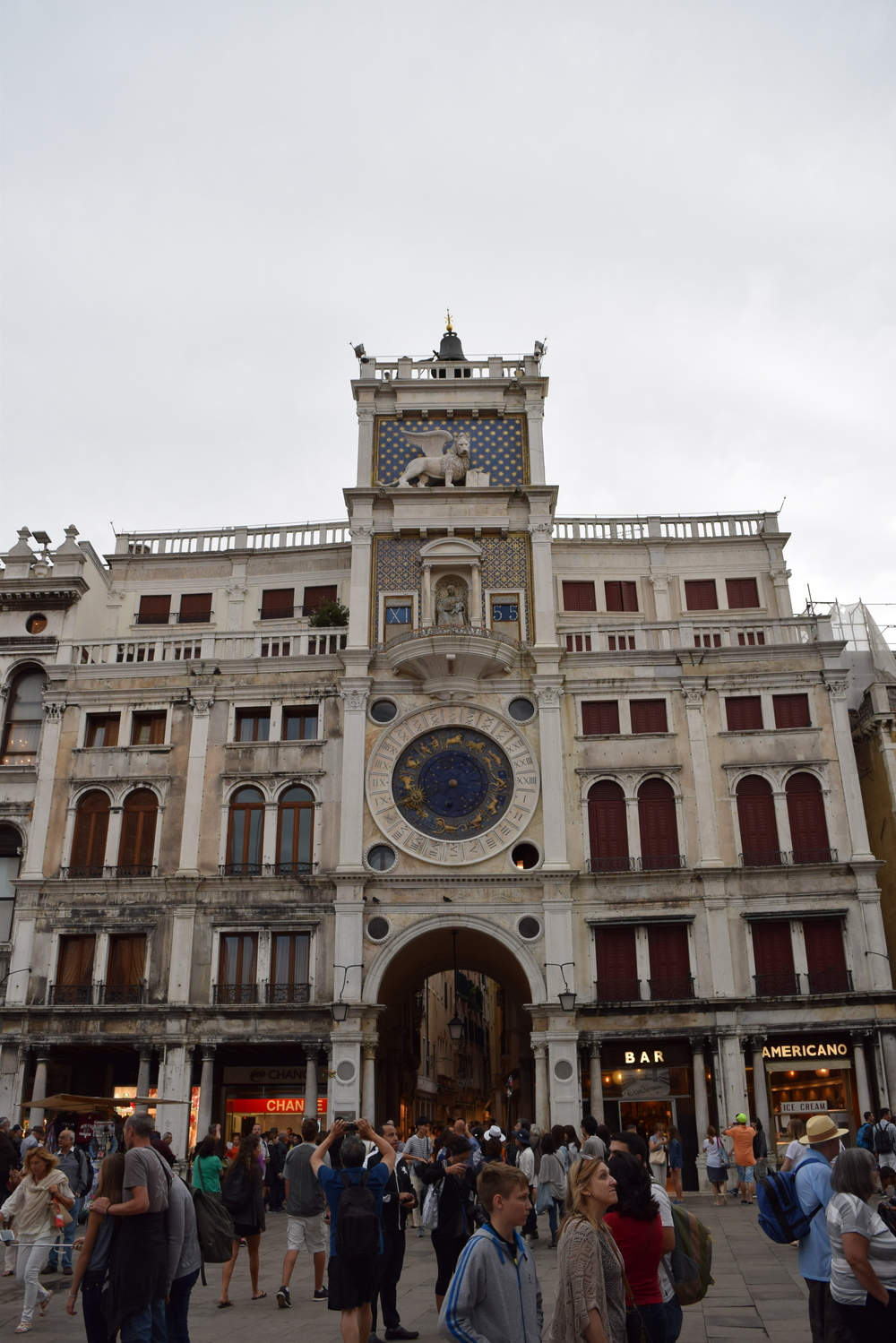 The Clock Tower in the Piazza di San Marco