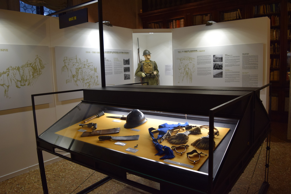Display from the exhibit on the Guardia di Finanza during World War I