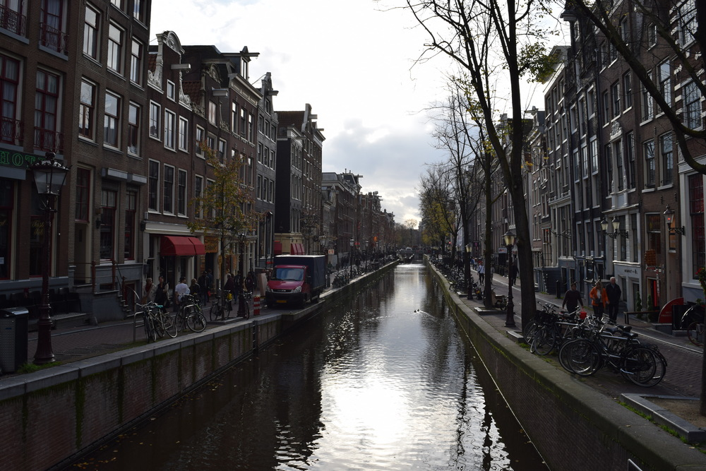 De Wallen during the day.  Roxanne has yet to put out her red light on this day.
