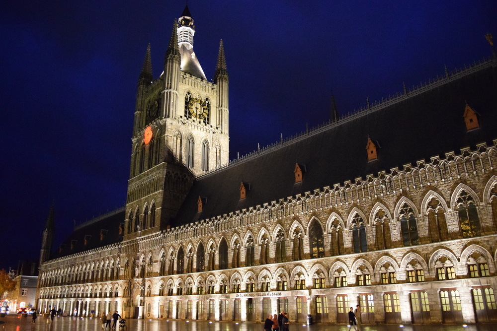 The Cloth Hall in Ypres, home to the In Flanders Field Museum.