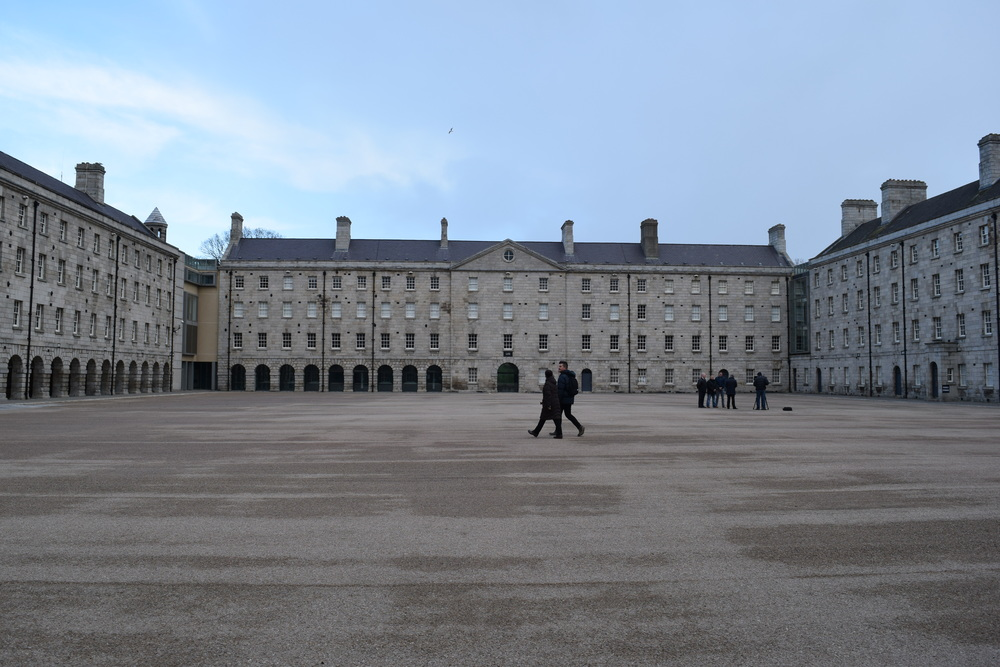 The former Collins Barracks' parade deck