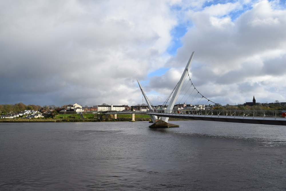 Peace Bridge over the River Foyle, Derry