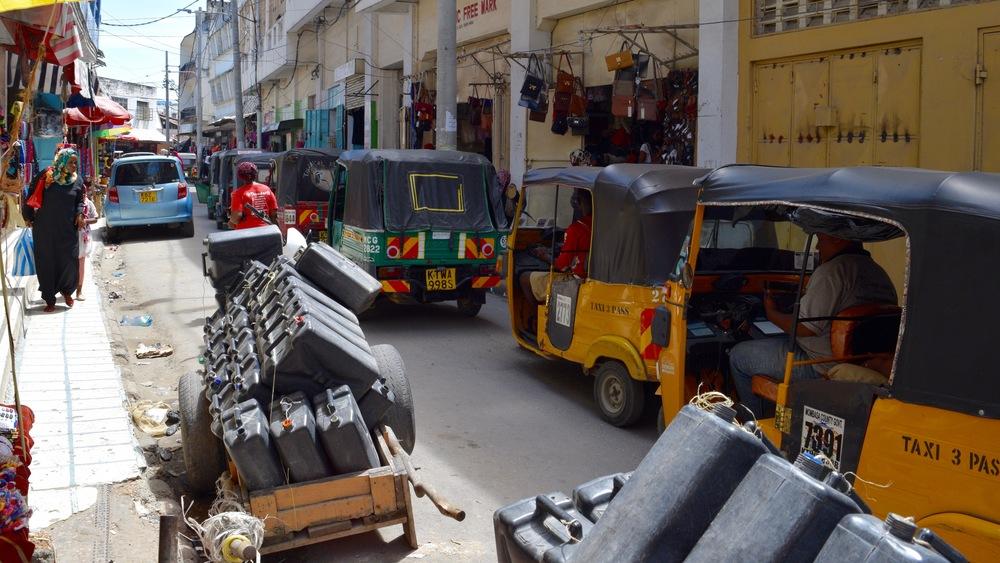 Tuk tuk traffic jam in Old Town