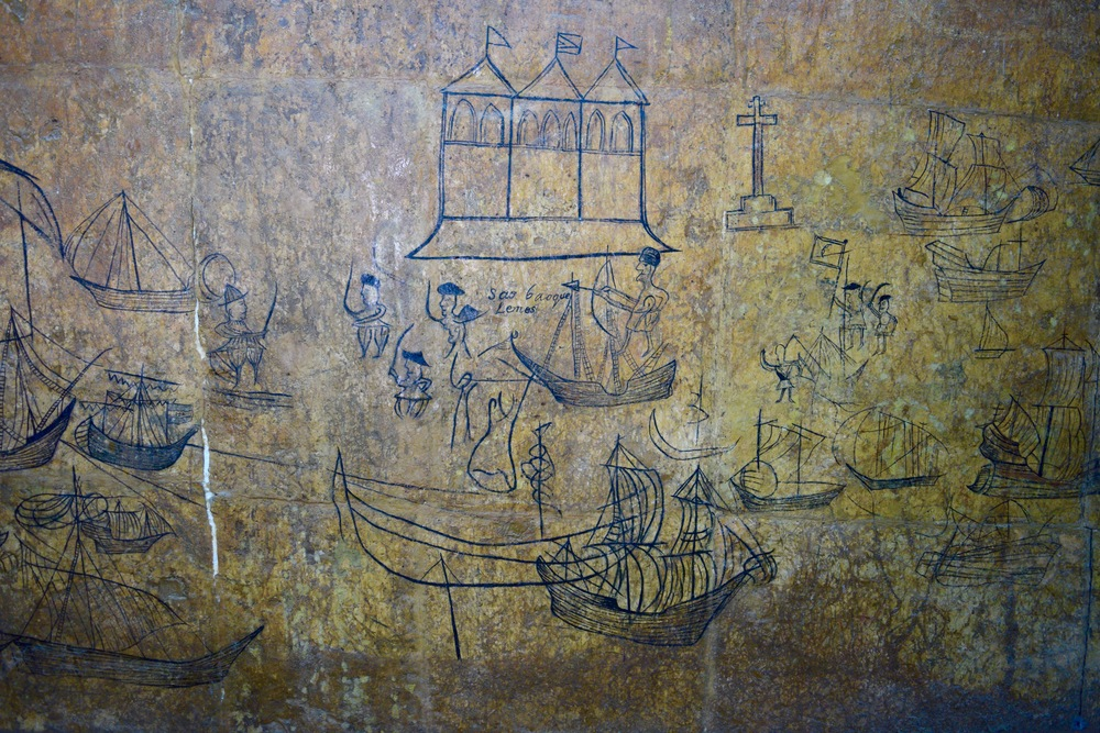 Drawings made by Portuguese sailors uncovered in Fort Jesus