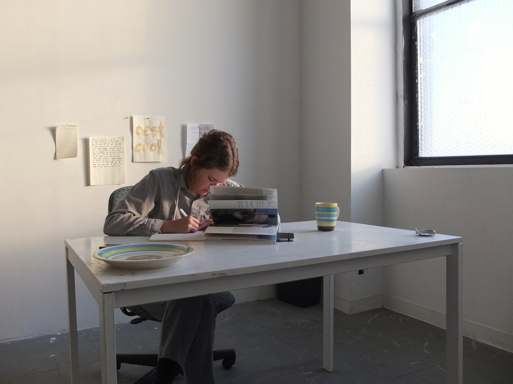 Jacqui hard at work in her studio