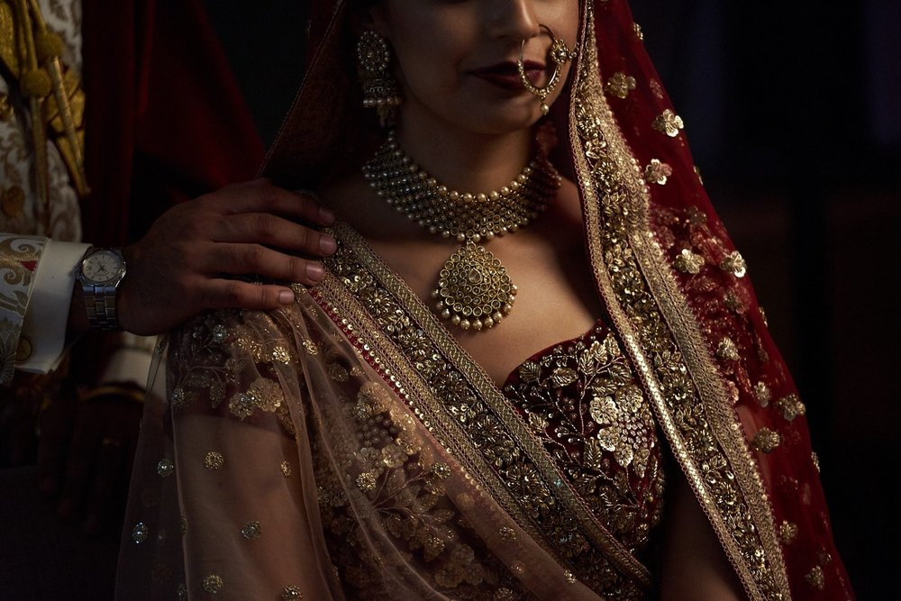 Indian Wedding Photography bride wearing Sabyasachi by SikhandDread