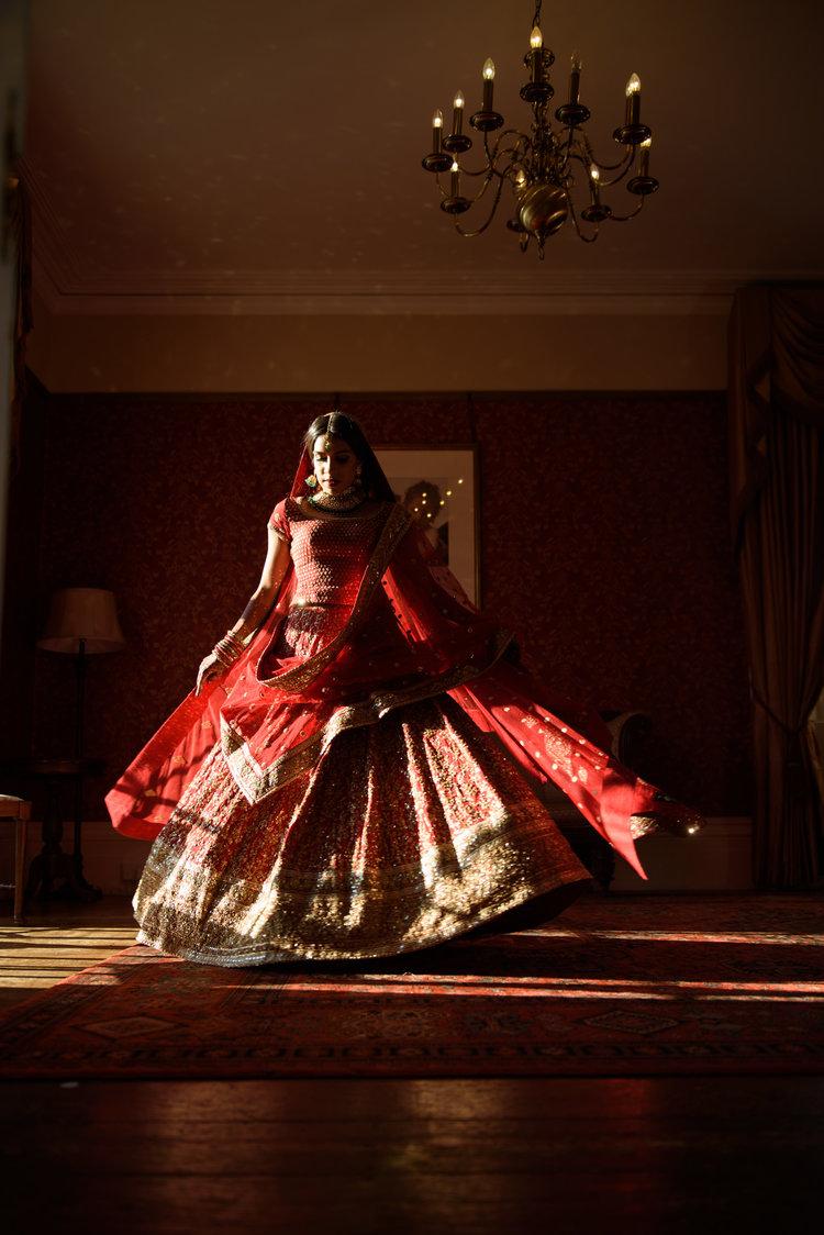 muslim bride portrait by asian wedding photographers