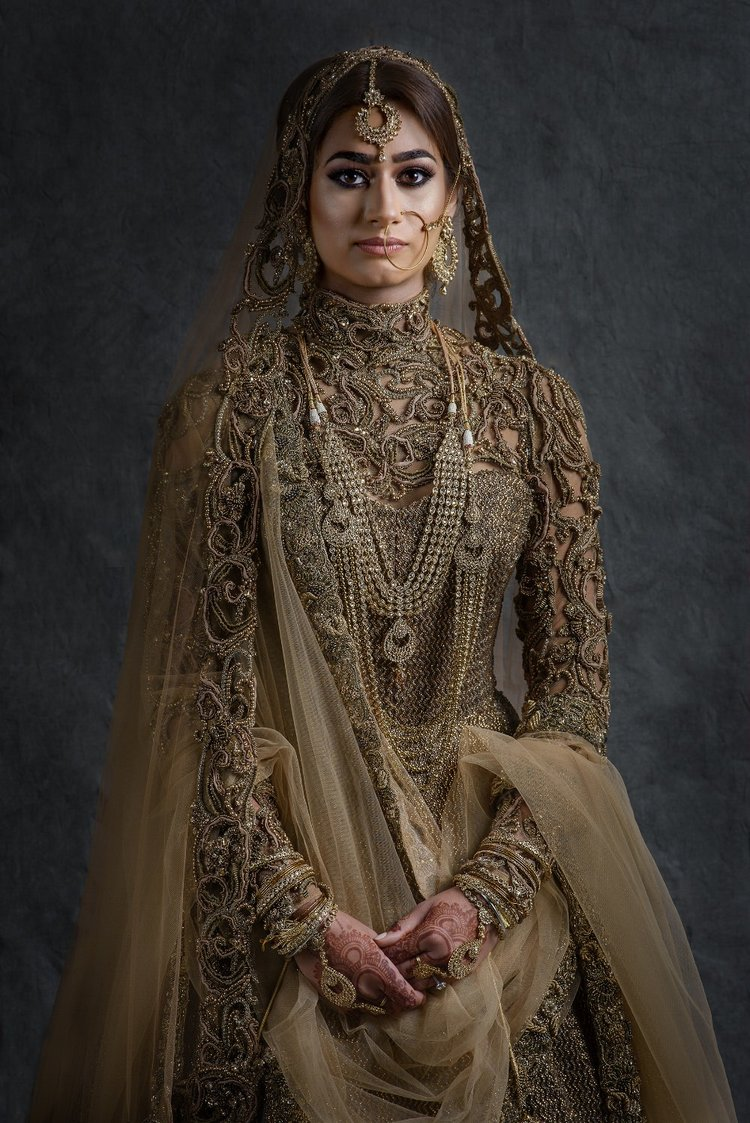 Sikh Bride Portrait by best asian wedding photographers sikhanddread