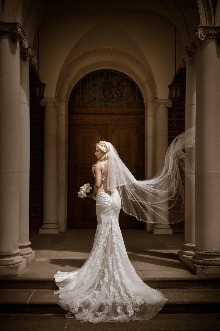 stunning bride portrait Sandhurst Military Academy top wedding photography