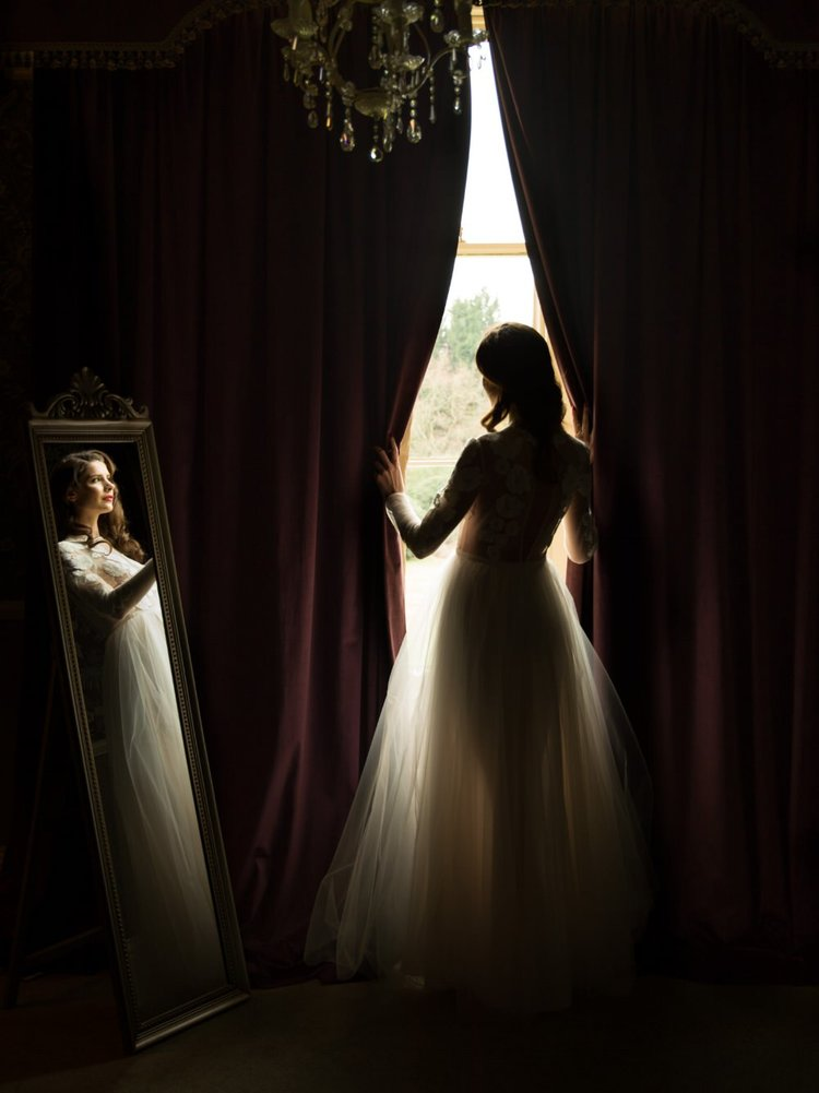 Bride portrait captured by top asian wedding photographers at shendish manor