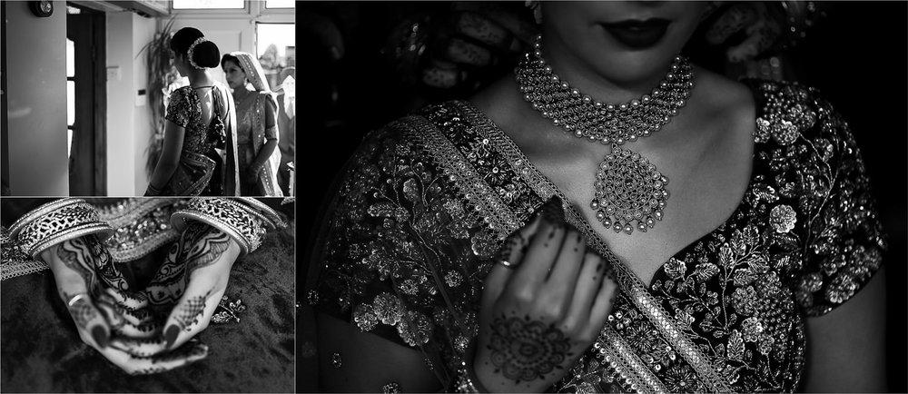 Brides Mendhi and jewellery closeups