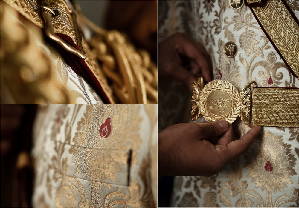 close up sikh groom details