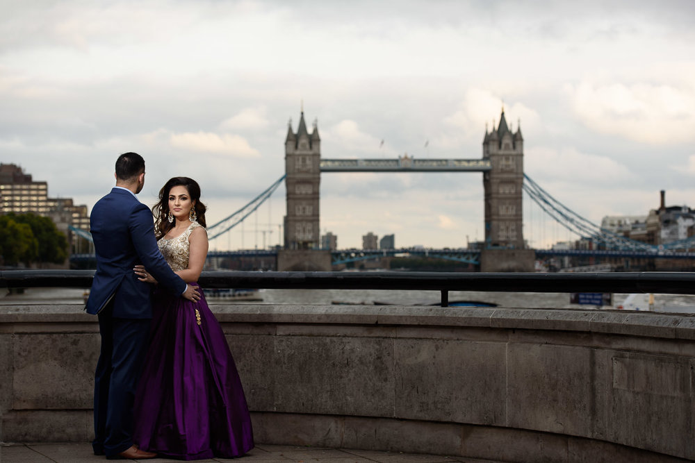 Wedding Photographer in London, Tower Bridge