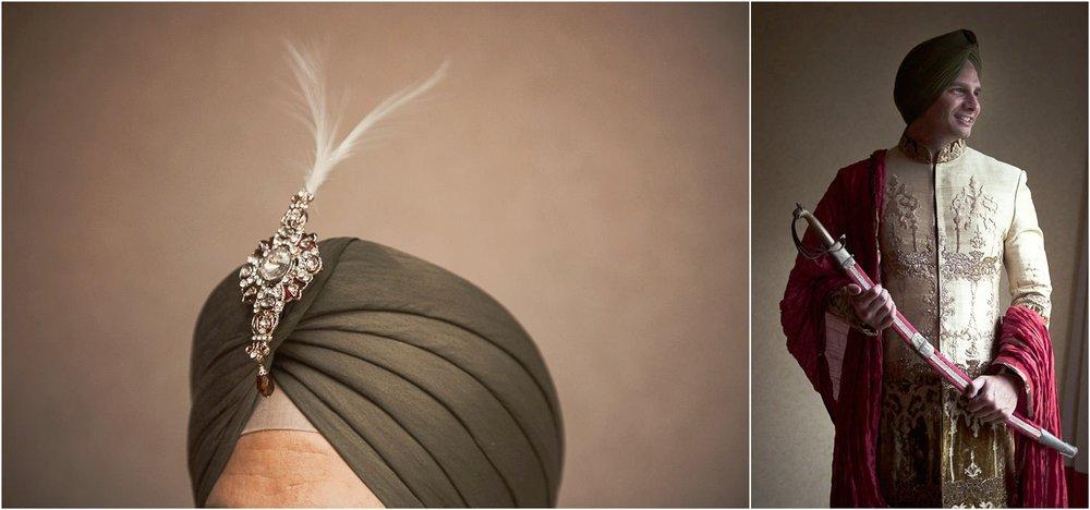 sikh groom portraits