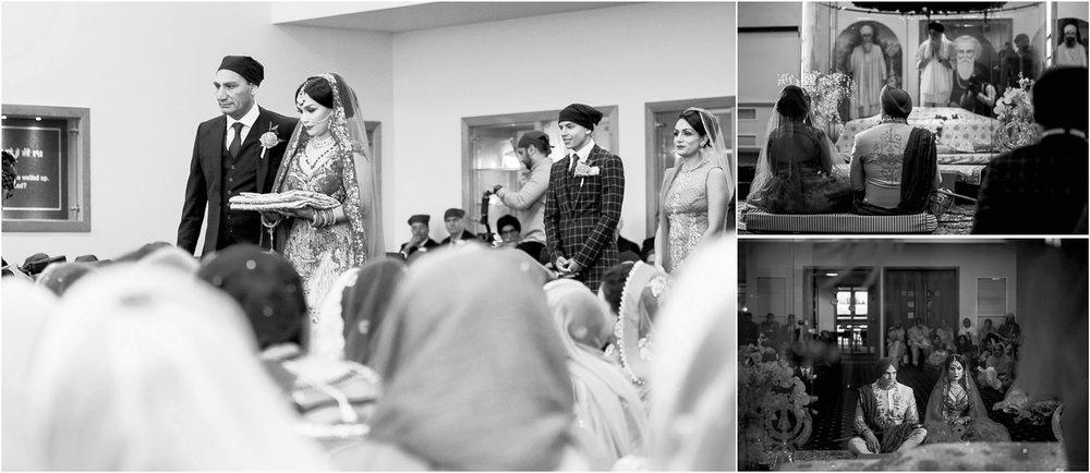 Indian bride entering gurdwara