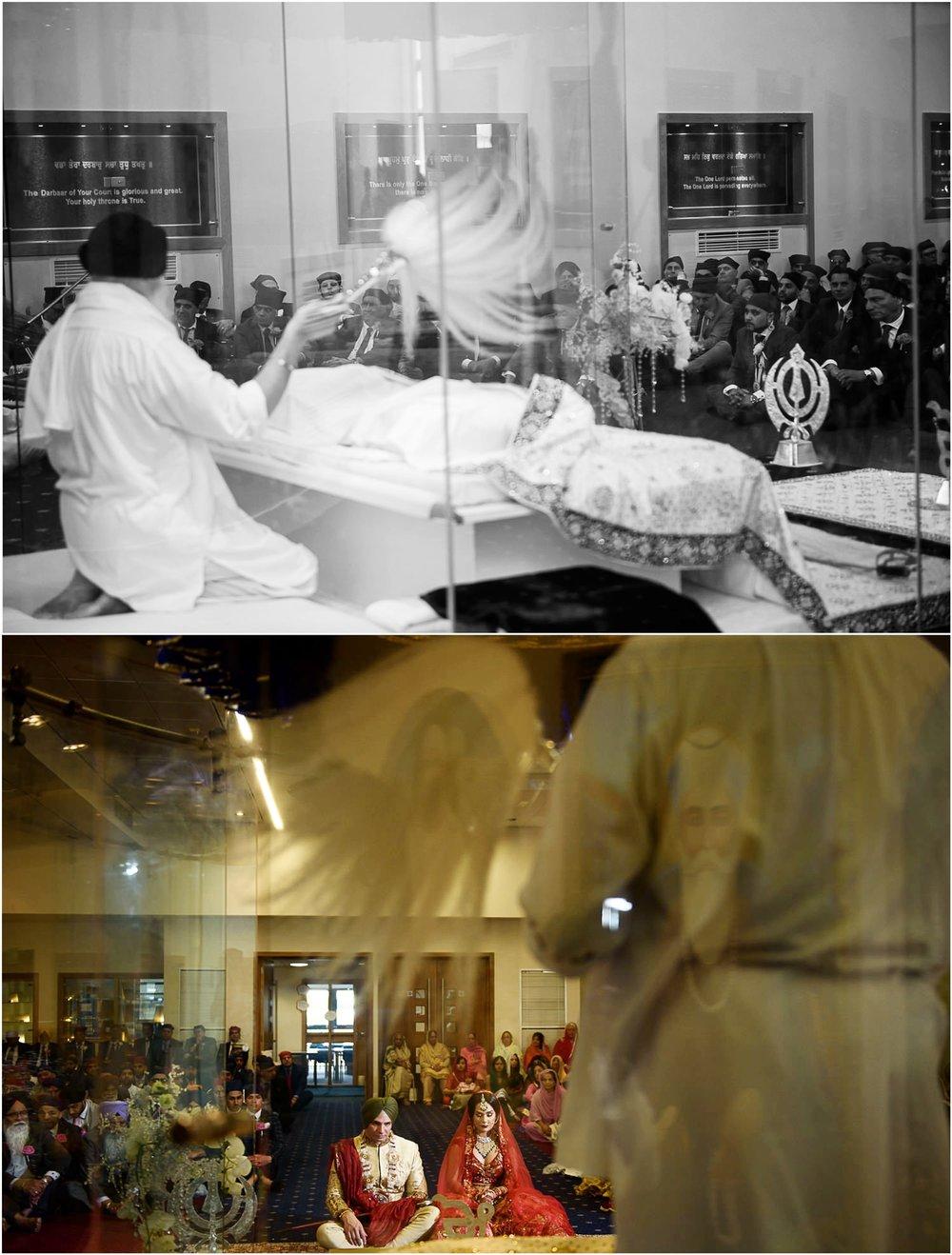 Sikh Giani doing prayers at wedding ceremony