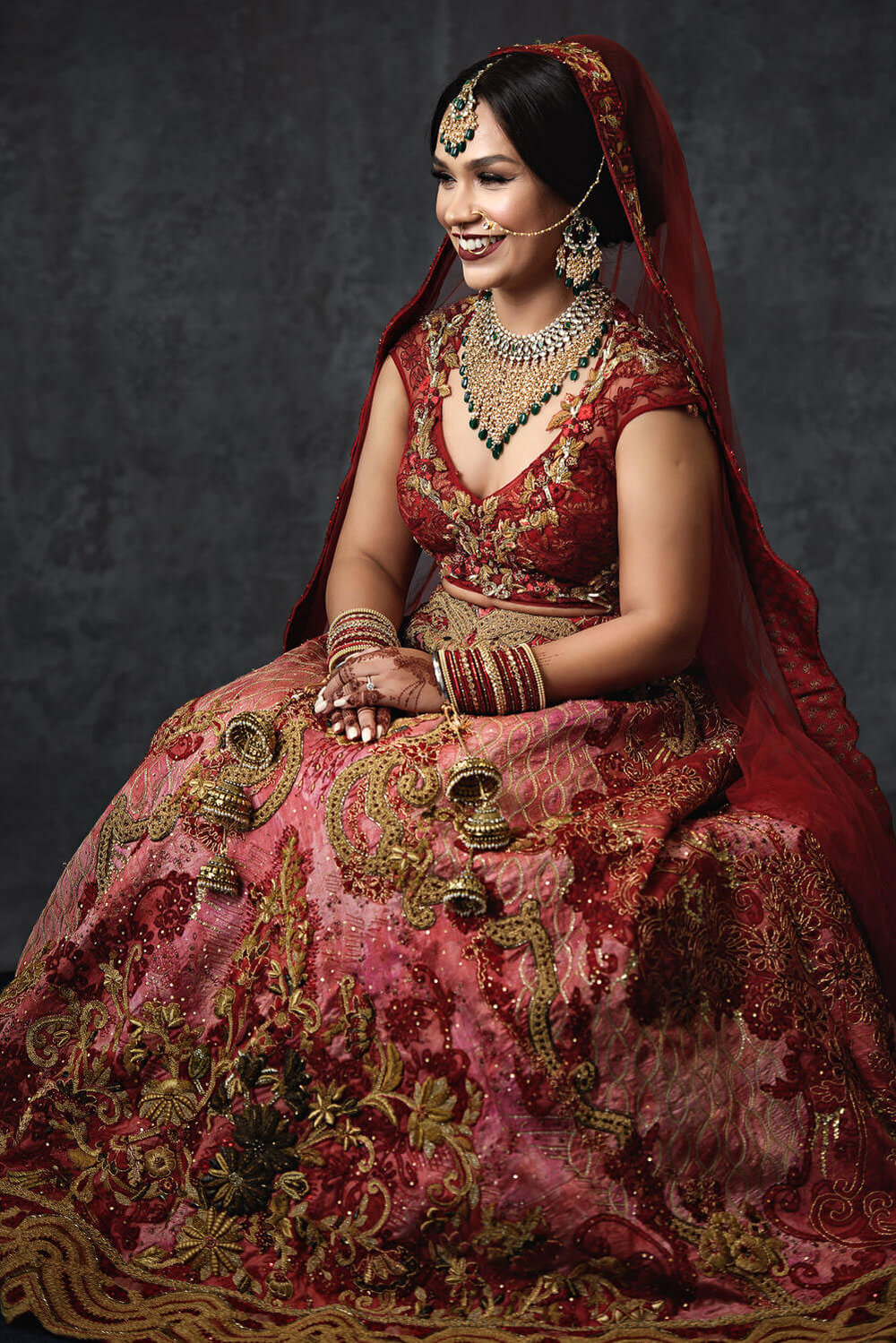 Indian bride portrait sitting down by Sikh and Dread Photography - 009