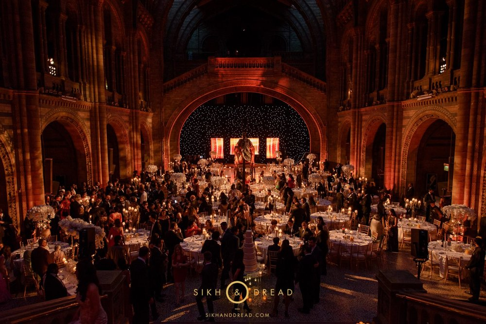 Natural History Museum Asian Wedding photography in London by sikhanddread